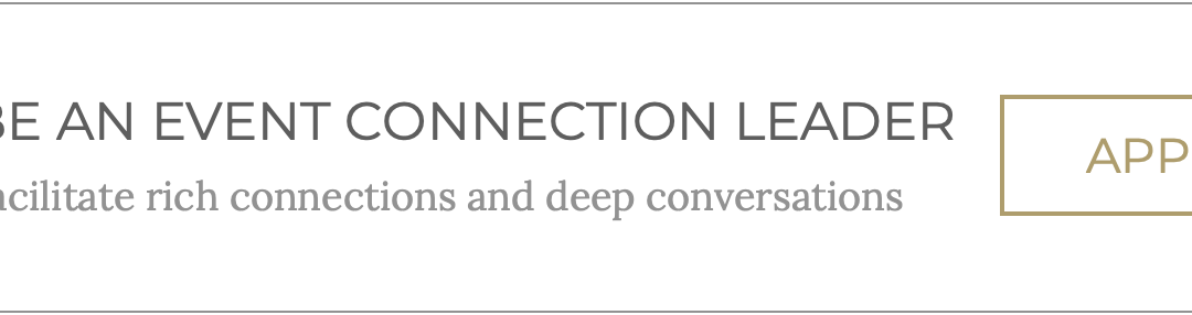 GET INVOLVED: BECOME A CONNECTION LEADER
